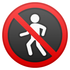 No Pedestrians Emoji on Google Android and Chromebooks