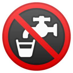 Non-Potable Water Emoji on Google Android and Chromebooks