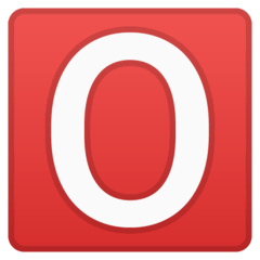 O Button (Blood Type) Emoji on Google Android and Chromebooks