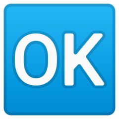OK Button Emoji on Google Android and Chromebooks