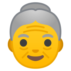 Old Woman Emoji on Google Android and Chromebooks