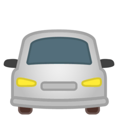 Oncoming Automobile Emoji on Google Android and Chromebooks