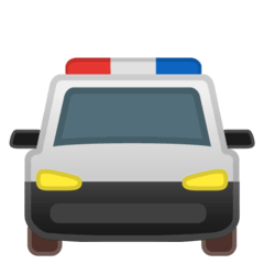 Oncoming Police Car Emoji on Google Android and Chromebooks