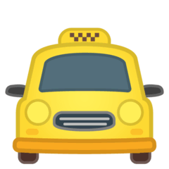 Oncoming Taxi Emoji on Google Android and Chromebooks