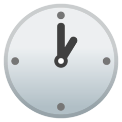 One O'clock Emoji on Google Android and Chromebooks