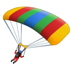 Parachute Emoji on Google Android and Chromebooks