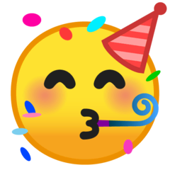 Partying Face Emoji on Google Android and Chromebooks