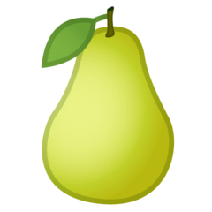 Pear Emoji on Google Android and Chromebooks