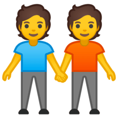 People Holding Hands Emoji on Google Android and Chromebooks