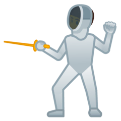 Person Fencing Emoji on Google Android and Chromebooks