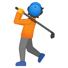 Person Golfing Emoji on Google Android and Chromebooks