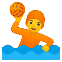 Person Playing Water Polo Emoji on Google Android and Chromebooks