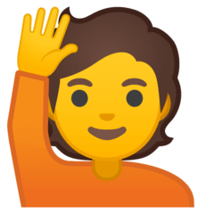 Person Raising Hand Emoji on Google Android and Chromebooks
