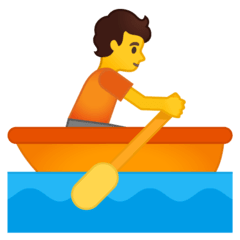 Person Rowing Boat Emoji on Google Android and Chromebooks