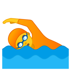 Person Swimming Emoji on Google Android and Chromebooks