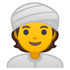 Person Wearing Turban Emoji on Google Android and Chromebooks