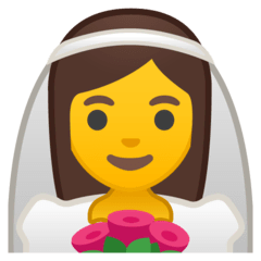 Person With Veil Emoji on Google Android and Chromebooks