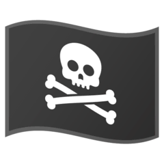 Pirate Flag Emoji on Google Android and Chromebooks