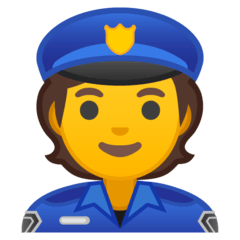 Police Officer Emoji on Google Android and Chromebooks