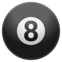 Pool 8 Ball Emoji on Google Android and Chromebooks