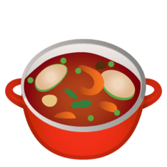 Pot of Food Emoji on Google Android and Chromebooks