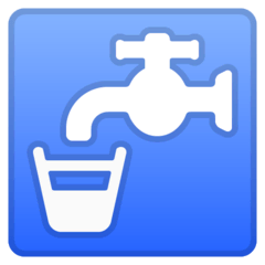 Potable Water Emoji on Google Android and Chromebooks