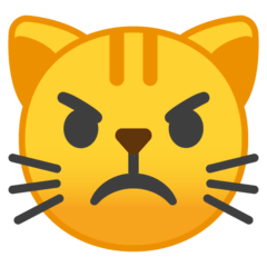 Pouting Cat Emoji on Google Android and Chromebooks