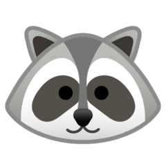Raccoon Emoji on Google Android and Chromebooks