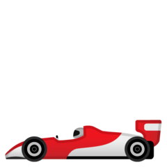 Racing Car Emoji on Google Android and Chromebooks