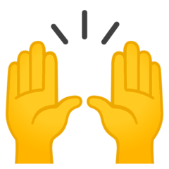 Raising Hands Emoji on Google Android and Chromebooks