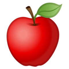 Red Apple Emoji on Google Android and Chromebooks