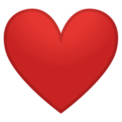 Red Heart Emoji on Google Android and Chromebooks