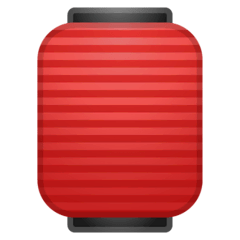 Red Paper Lantern Emoji on Google Android and Chromebooks