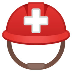Rescue Worker's Helmet Emoji on Google Android and Chromebooks