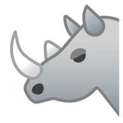 Rhinoceros Emoji on Google Android and Chromebooks