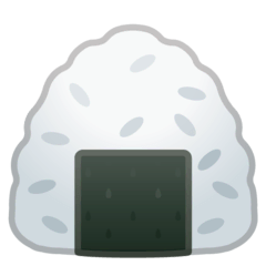 Rice Ball Emoji on Google Android and Chromebooks
