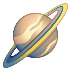 Ringed Planet Emoji on Google Android and Chromebooks