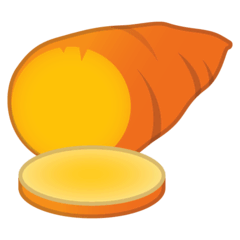 Roasted Sweet Potato Emoji on Google Android and Chromebooks
