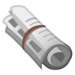 Rolled-Up Newspaper Emoji on Google Android and Chromebooks