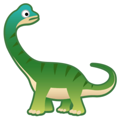 Sauropod Emoji on Google Android and Chromebooks