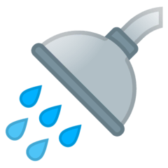 Shower Emoji on Google Android and Chromebooks