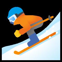 Skier Emoji on Google Android and Chromebooks