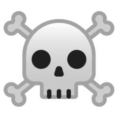 Skull and Crossbones Emoji on Google Android and Chromebooks