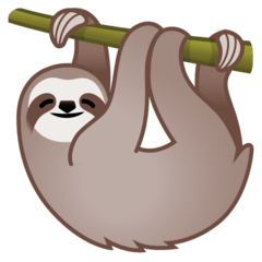 Sloth Emoji on Google Android and Chromebooks