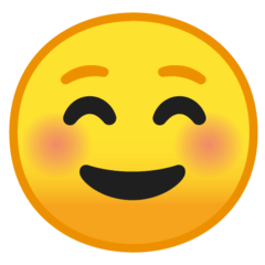 Smiling Face Emoji on Google Android and Chromebooks