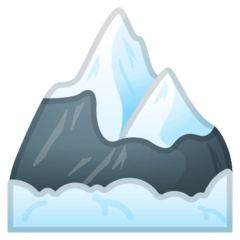 Snow-Capped Mountain Emoji on Google Android and Chromebooks