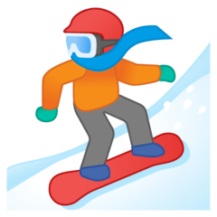 Snowboarder Emoji on Google Android and Chromebooks
