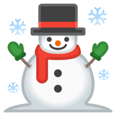Snowman Emoji on Google Android and Chromebooks