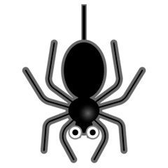 Spider Emoji on Google Android and Chromebooks