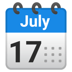 Spiral Calendar Emoji on Google Android and Chromebooks